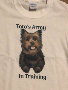 Youth size Toto's Army in Training t-shirt