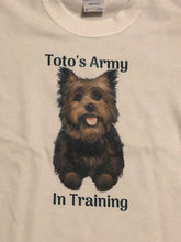 Load image into Gallery viewer, Youth size Toto's Army in Training t-shirt