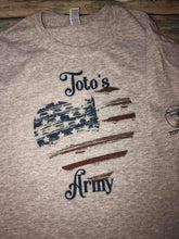 Load image into Gallery viewer, Toto's Army Heart American Flag t-shirt