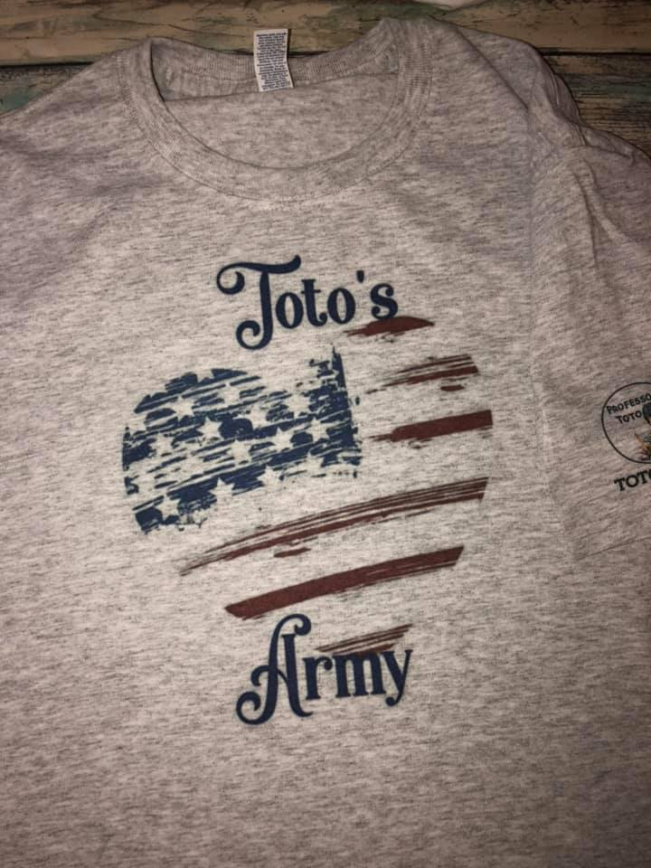 Toto's Army Heart American Flag t-shirt