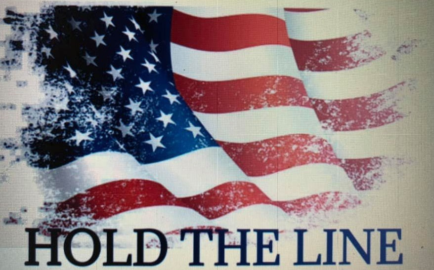 Hold the Line Flag t-shirt