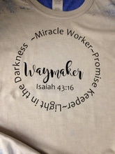 Load image into Gallery viewer, Waymaker miracle worker Promise keeper T-shirt