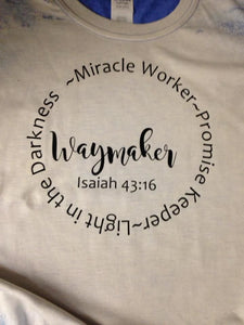 Waymaker miracle worker Promise keeper T-shirt
