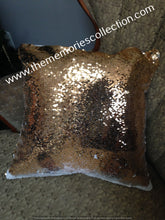 Load image into Gallery viewer, Sequin Flip Pillow with Photo added