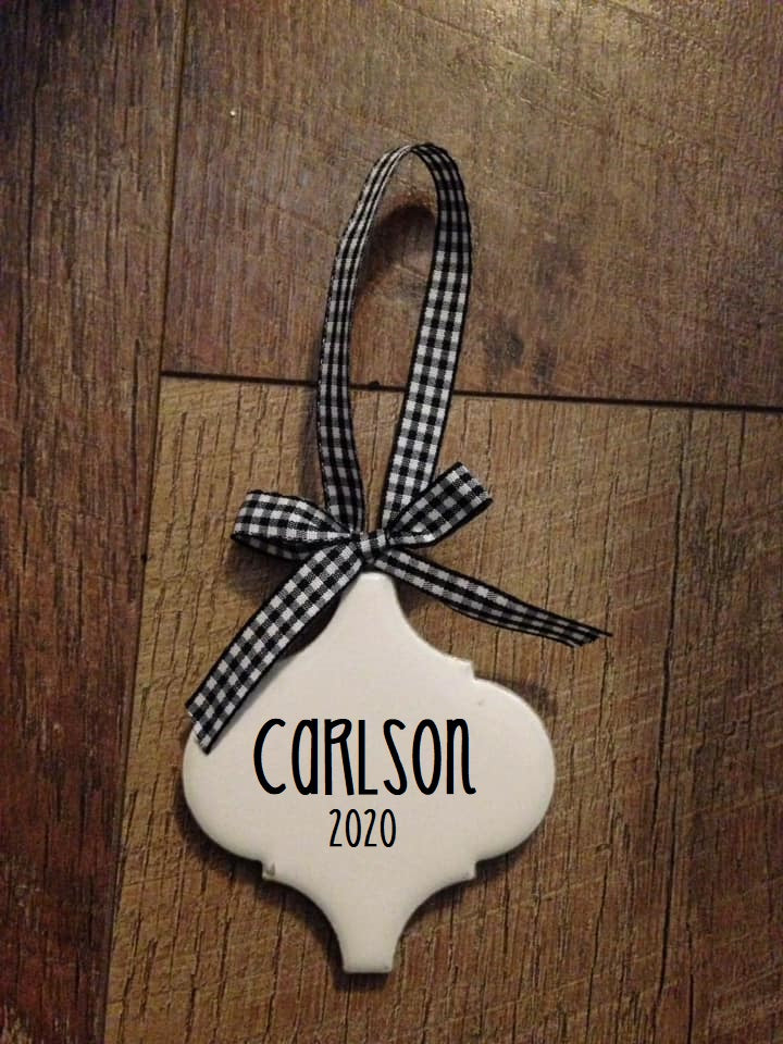 Personalized Ornate Shape Ornament