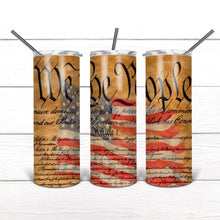 Load image into Gallery viewer, We the People Flag 20 oz. Stainless Steel Tumbler