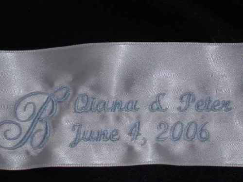 Wedding Gown Dress Label Personalized embroidery for Something blue or in Memory