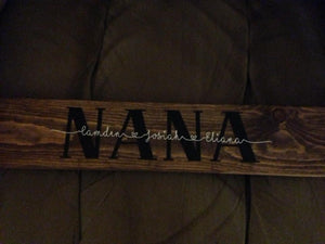 Additional names for  Personalized family sign