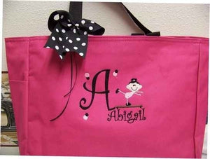 Gymnastics Tote Bag Personalized with name  soccer dance twirler