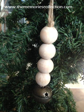 Load image into Gallery viewer, Wooden Farmhouse Christmas Ornaments with Wooden Beads