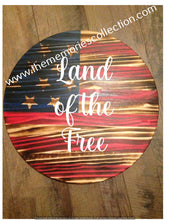 Load image into Gallery viewer, Circle Round Flag Distressed signs Personalized 24""