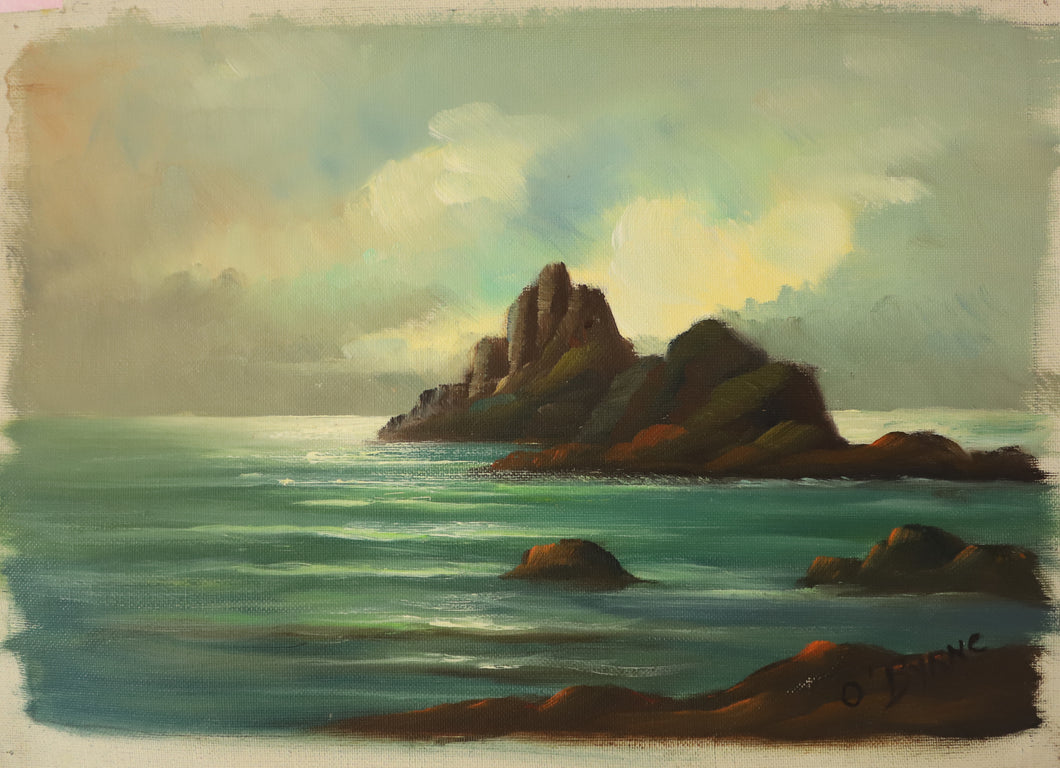 Seascape with Rocks 1 - Original Oil on Canvas