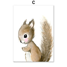 Load image into Gallery viewer, Cartoon Fox Koala Deer Rabbit Squirrel Posters And Prints Wall Art Canvas