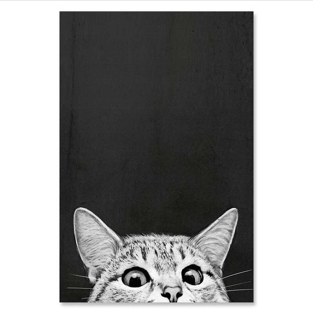 Cat Art Canvas Posters