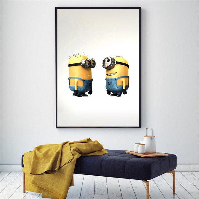 Kids Room Decor Canvas Minions Cartoon Posters and Prints