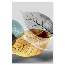 Load image into Gallery viewer, Abstract Black and White Plant Poster Canvas Print Leaves Wall Art