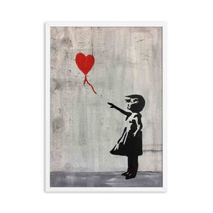 Abstract Girl Wall Art Canvas Painting Banksy