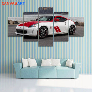 Canvas Art 5 Piece HD Pictures 2020 Nissan 370Z 50th Anniversary Edition Canvas Poster