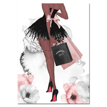 Load image into Gallery viewer, Fashion Wall Art Perfume Lips Poster High Heels Canvas