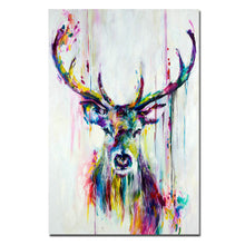 Load image into Gallery viewer, Pop Art Canvas Painting Nordic Animal Deer Canvas Print Posters Unframed