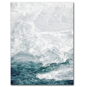 Ocean Wave Landscapes Canvas Painting Seascape Nordic Posters and Prints