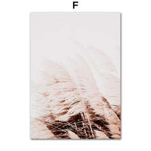 Farm Plant Flower Leaves Wheat Landscape Wall Art Canvas