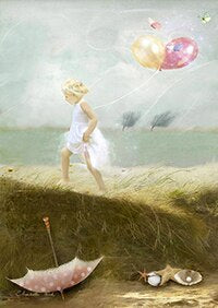 Fairy Tale Girls Angels And Animal Posters Canvas Art Painting