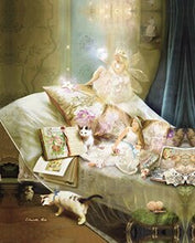 Load image into Gallery viewer, Fairy Tale Girls Angels And Animal Posters Canvas Art Painting