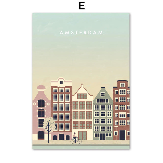 Places Wall Art Print Graphics - Amsterdam