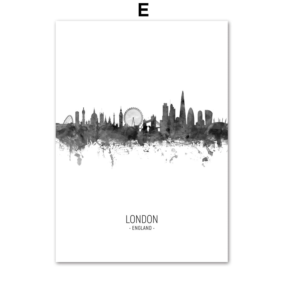 City Skylines hd ink painting poster - London