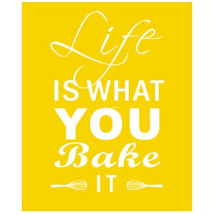 Baking Canvas Painting Life Quote Posters and Prints