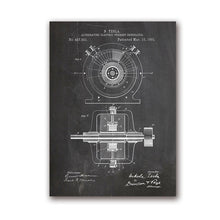 Load image into Gallery viewer, Tesla Alternating Current Generator Patent Artwork Prints