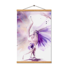 Load image into Gallery viewer, Abstract Art Poster Print Purple Ballerina Canvas Painting