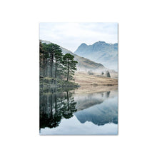 Load image into Gallery viewer, Mountain Lake Reflection Picture Nature Posters