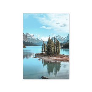 Mountain Lake Reflection Picture Nature Posters