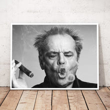 Load image into Gallery viewer, Jack Nicholson Cigar Poster Wall Art Print Picture Black and white Canvas