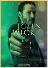 Load image into Gallery viewer, Newly Movie John Wick Vintage Poster kraft paper Wall Stickers Retro Poster Prints For Bar And Home Decor