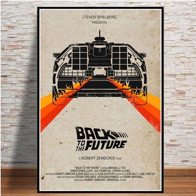 Back to the Future Movie Classic Car Poster And Prints