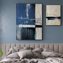 Load image into Gallery viewer, Abstract Blue Creative Seascape Canvas Paintings Posters