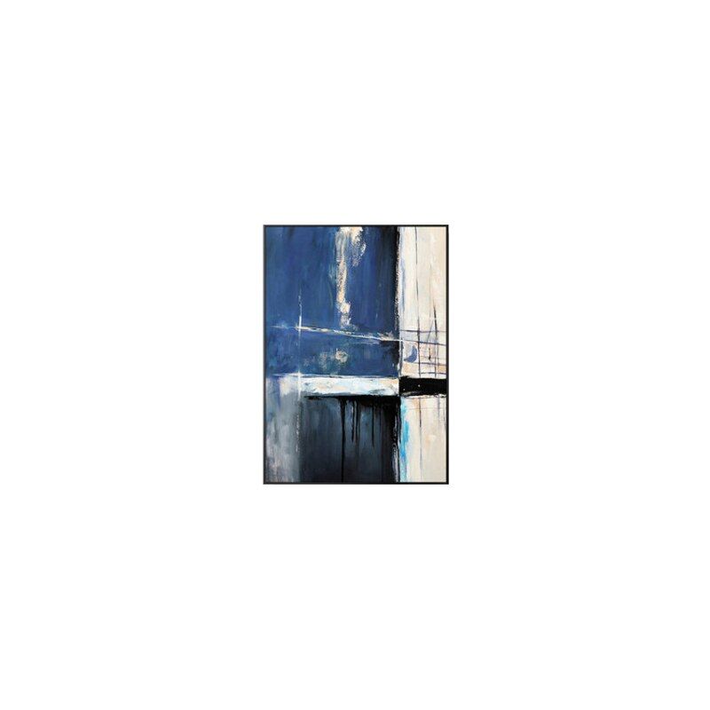 Abstract Blue Creative Seascape Canvas Paintings Posters
