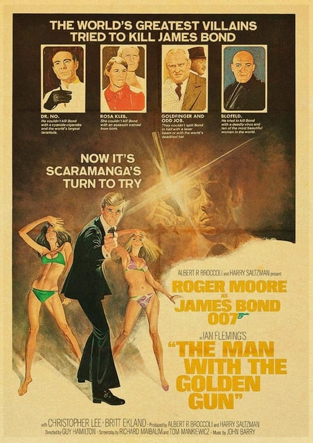 Vintage Poster Movie James Bond 007 Retro Posters