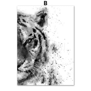 Animal Wall Art Canvas Painting Nordic Posters and Prints Wall Pictures For Living Room
