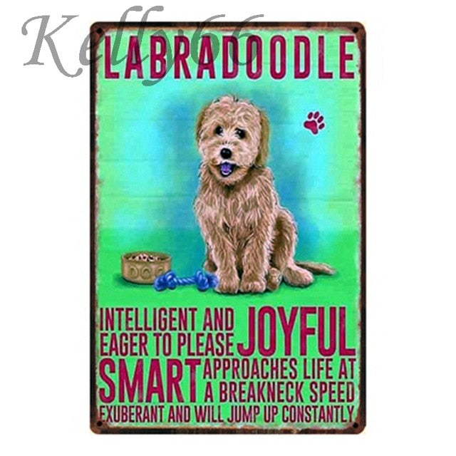 Dog Decor Tin Sign Tin Poster Wall Art Metal 20*30 CM