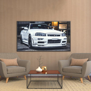 Wall Art Canvas Painting HD Print Artwork 1 Piece Nissan Skyline GTR Car Picture