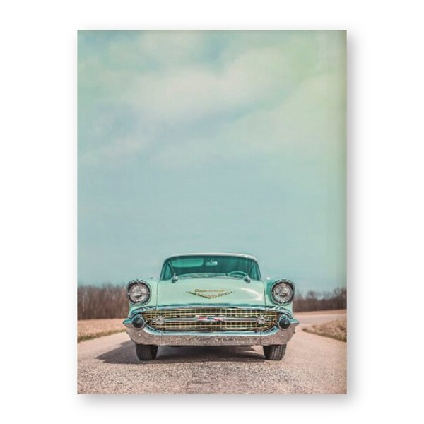 Vintage Car Photography Poster Art Prints - Chevrolet Wall Decor