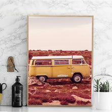 Load image into Gallery viewer, Hiphop Art Print Posters VW Bus Landscape Canvas Painting
