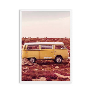 Hiphop Art Print Posters VW Bus Landscape Canvas Painting