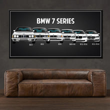 Load image into Gallery viewer, Modern family poster retro classic BMW car canvas