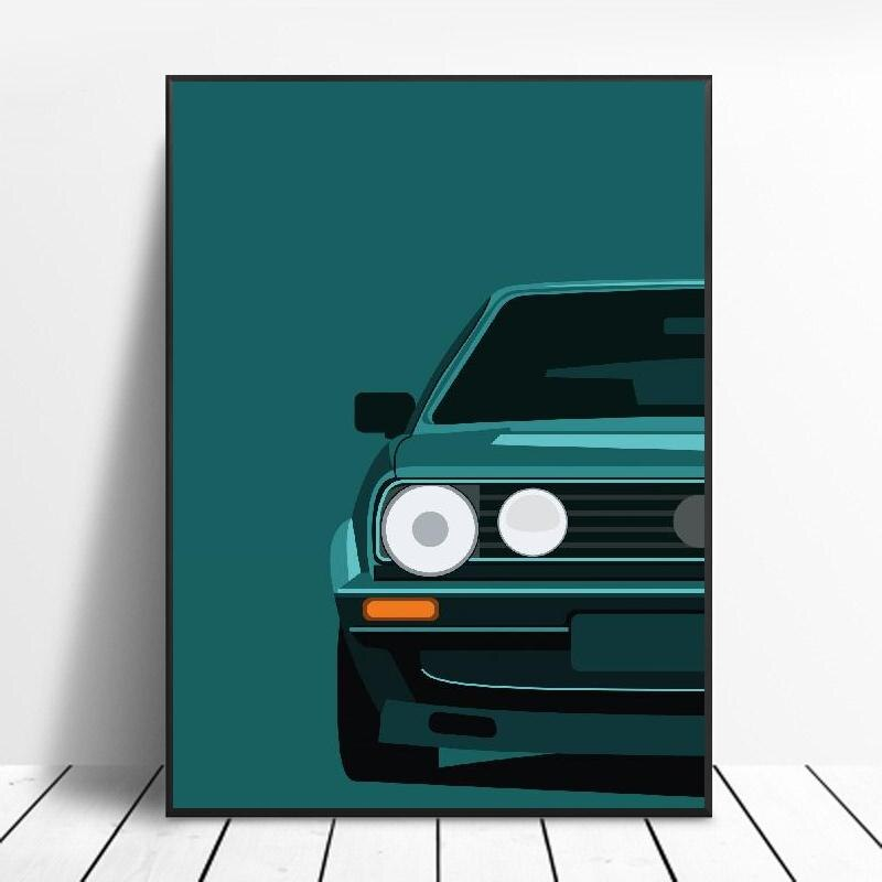 Classic 90S Cars Canvas Painting Art Print Poster Picture Wall Modern Minimalist Bedroom Living Room Decoration