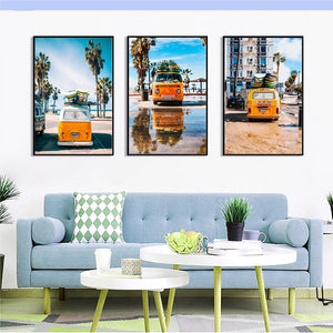 Minimalist Car Cartoon Construction Truck Canvas Painting Art Print Poster Picture Child Baby Bedroom Wall Decoration